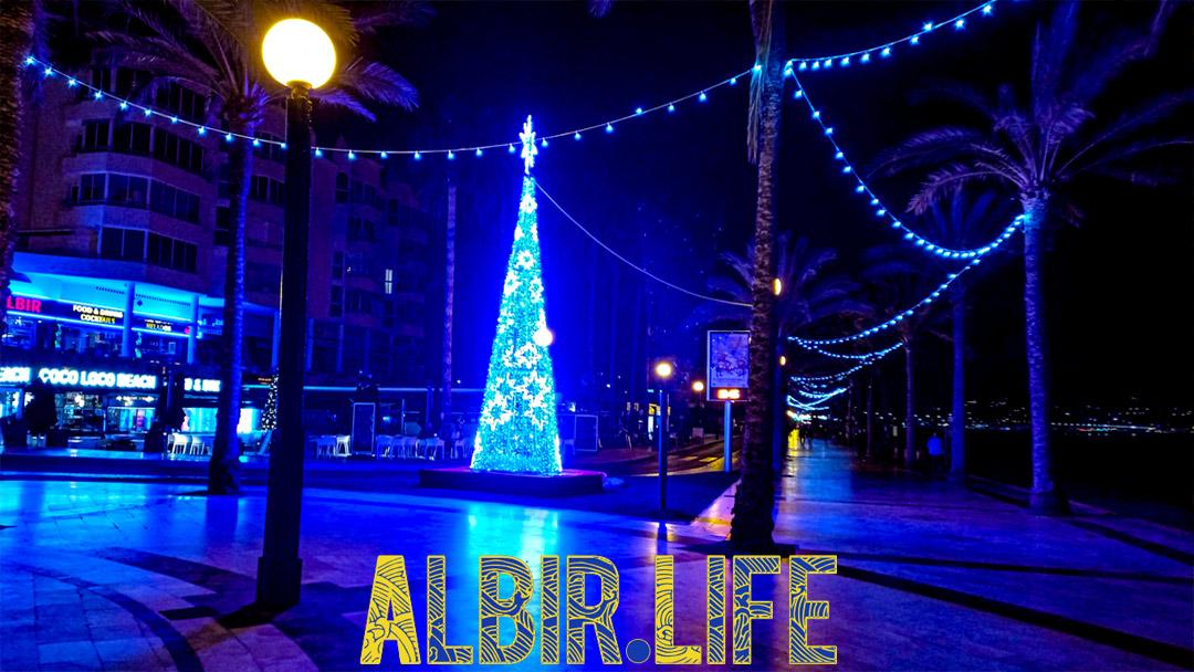 Christmas tree in Albir